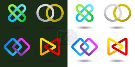 Team Logo Infinite shape icon Consulting Team concept