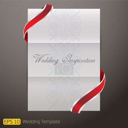 White Template paper Wedding Invitation