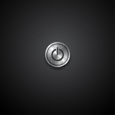 Black background with turn on button