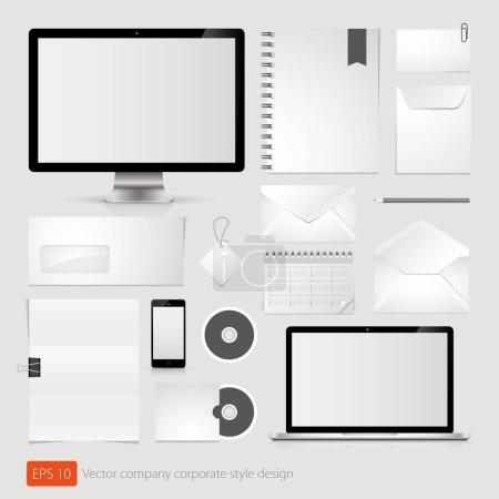 Illustration pour Modèle de style entreprise société vecteur - image libre de droit