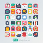 Color flat icons set for user interface
