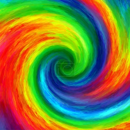 Abstract art swirl rainbow grunge colorful paint background