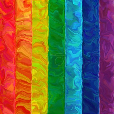 Abstract art brush oil painting rainbow horizontal color pattern background