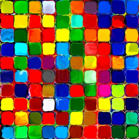 Abstract rainbow colorful tiles mozaic painting geometric pallette pattern background 3