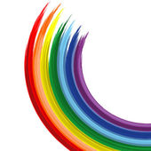 Art rainbow abstract vector background Version 2