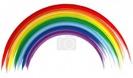 Art rainbow abstract brush paint vector background 5