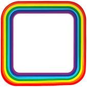 Art rainbow frame abstract vector background 4