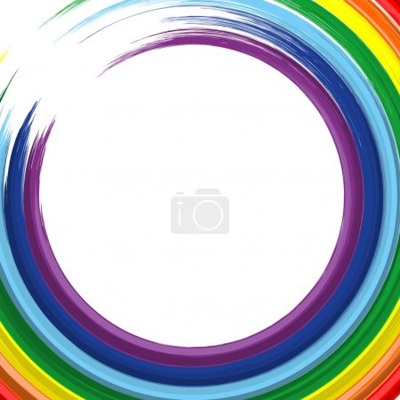 art rainbow abstract vector painting background