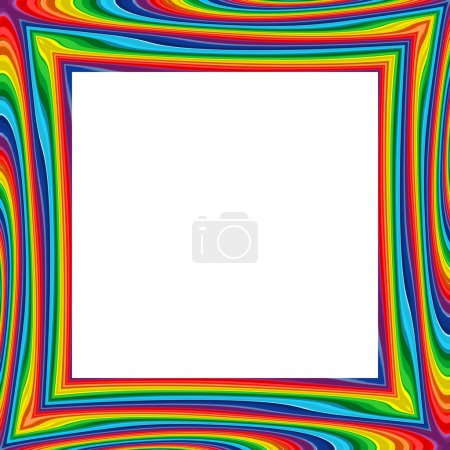 Abstract rainbow frame color background vector