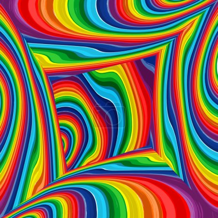 Abstract raibow colorful vector background, art multicolor room