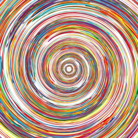 Illustration for Abstract rainbow curved lines circle colorful background 2 - Royalty Free Image