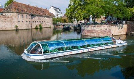 Excursion river bus in Strasbourg, France