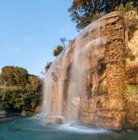 Photo for Waterfall in Parc de la Colline du Château - Nice, France - Royalty Free Image