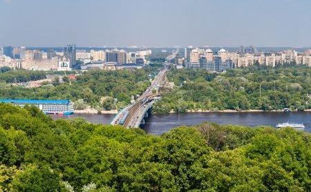 View of Left Bank of Dnieper in Kiev, Ukraine