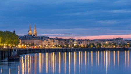 View on Bordeaux in the evening - France...