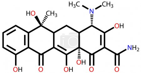 Illustration for Antibiotic tetracycline structural formula - Royalty Free Image