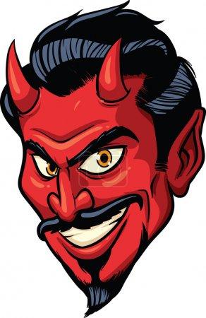 Smiling devil face. Vector illustration. All in a ...
