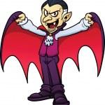 Cartoon Dracula vampire. Vector illustration with ...
