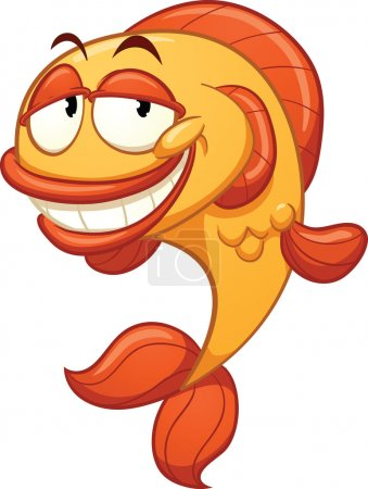 Illustration for Cartoon fish. Vector illustration with simple gradients. All in a single layer. - Royalty Free Image