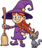 Cute cartoon witch
