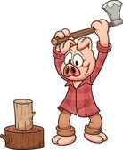 Lumberjack pig