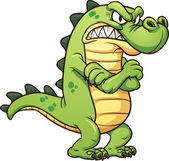 Grumpy cartoon crocodile Vector clip art illustration with simple gradients All in a single layer