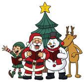 Christmas character singing