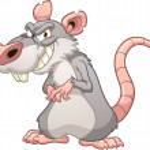 Evil cartoon rat. Vector clip art illustration wit...