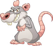 Evil cartoon rat