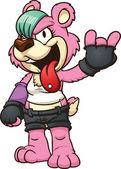 Punk cartoon bear