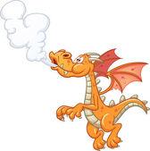 Orange smoking dragon