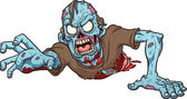 Cartoon crawling zombie Vector clip art illustration with simple gradients All in a single layer
