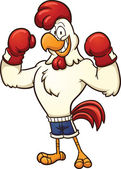 Boxing chicken