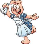 Female cartoon pig