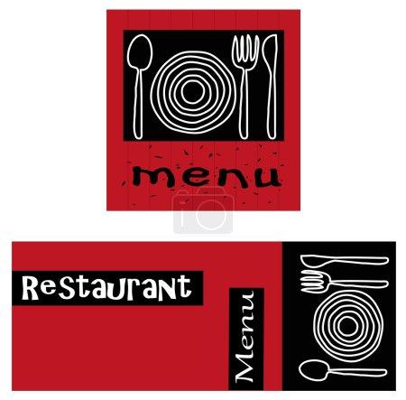 Photo pour Logos vectoriels adaptés à la restauration - image libre de droit