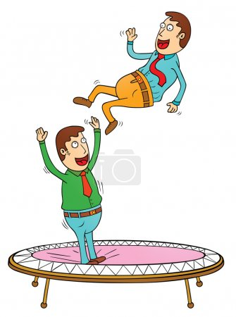 Illustration for Trampoline time - Royalty Free Image