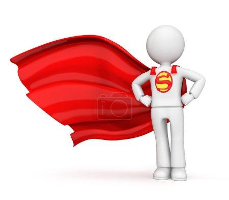 Photo pour Caractère 3D superhéros sur fond blanc - image libre de droit