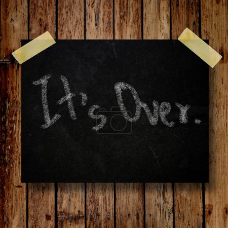It's over on message note with wooden background...