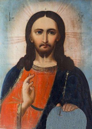 Photo pour Jésus Christ sur une icône orthodoxe . - image libre de droit