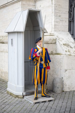Swiss guard at the post