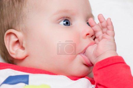 Baby sucking thumb