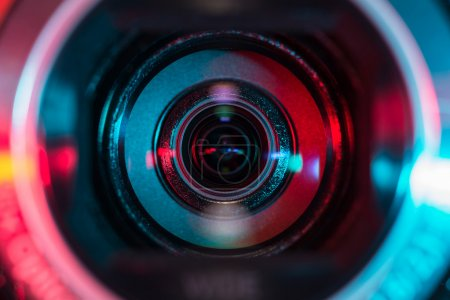 Photo for Closeup shot of video camera lens - Royalty Free Image