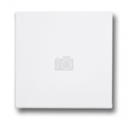 Square canvas on a stretcher. isolated on white