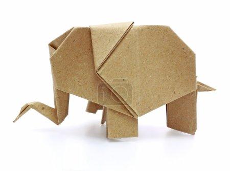 Foto de Elefante origami recicla papel - Imagen libre de derechos