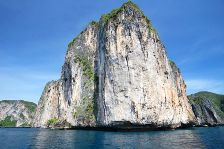 Beauty limestone rock in the ocean phi phi thailand