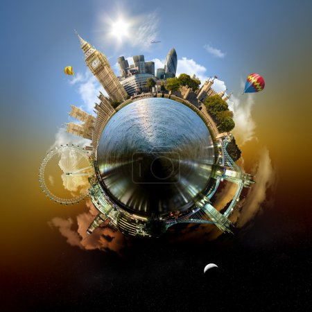 Photo for Miniature planet of London, with all important buildings and attracions of the city - Royalty Free Image