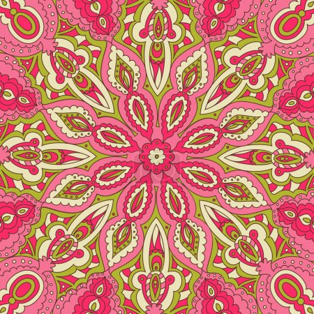 Illustration for Swirly summer beautiful pattern texture - Royalty Free Image