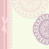 Baby frame vintage with lace vector