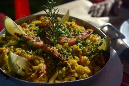Photo pour Uruguay sorte de paella de fruits de mer - image libre de droit