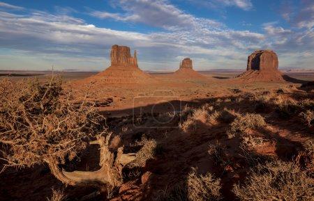 Photo pour Monument Valley est une région du Plateau du Colorado - image libre de droit